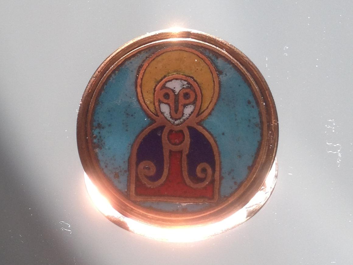 Heiligenfibel nach Fund aus Haithabu, gefertigt von Mathias Barkmann